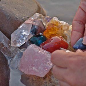 cristales en el llano