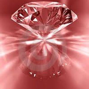 diamante sobre fondo rojo